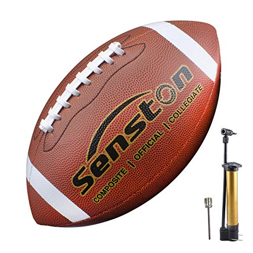 Senston American Football Size 9 Unisex-Youth Strapazierfähiges Komposit-Leder Sanfte Berührung Football Ball