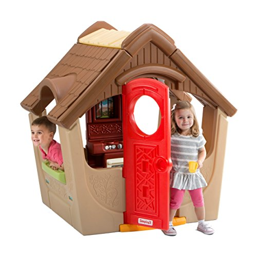 """Simplay3 Garden View Cottage, Kids Indoor Outdoor Playhouse for 4 or More Children 18 Months and up (52"""" H x 40"""" L x 48"""" W)"""