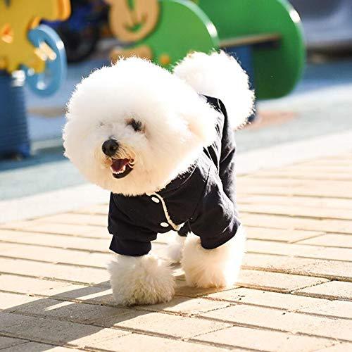 XPC-Haustierkleidung Hundebekleidung, Großer Hund Kostüm Outfits Sweater Dog Wintermantel Warmes Sweatshirt Winterjacke Hundekleidung Für Kaltes Wetter (Color : Blue, Size : LX)