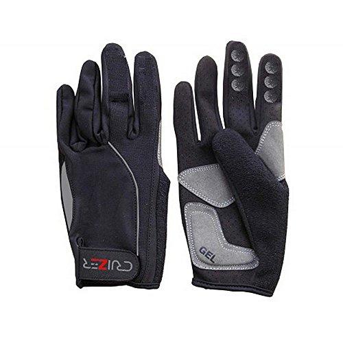 CRUIZER - Guantes para bicicleta de montaña de dedos largos de tejido elástico con protectores de gel e inserciones antideslizantes (XS)