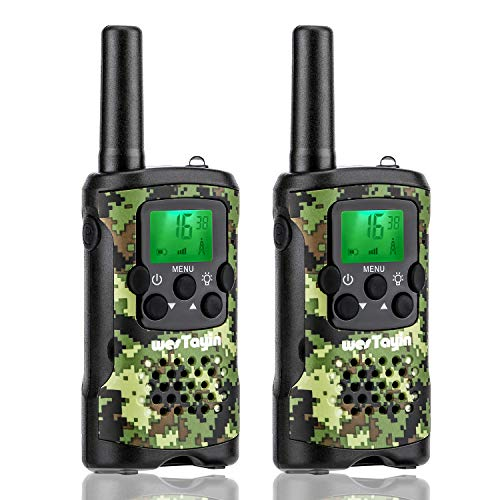 WES TAYIN Kids Walkie Talkies, Range Up to 4 Miles Long Range