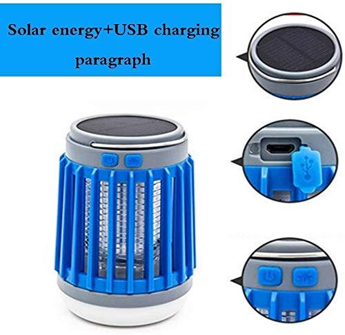Dmqpp 3 in 1 Mosquito Killer Lamp Camping Lantaarn LED Zaklamp, Draagbaar/Waterdicht/USB Oplaadbaar/Zonne-energie Pest Controle Lantaarn MuggenlampUSB Blauw