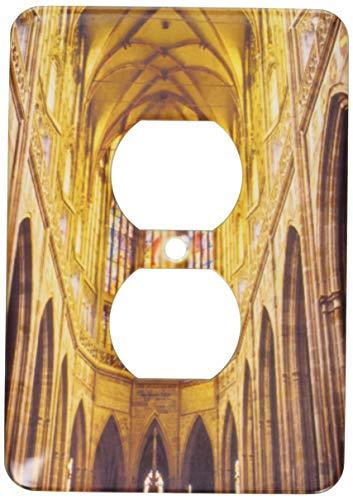 Einzelne Duplex-Wandplatte, Steckdosen-Wandplatte, Tschechische Republik, Prag, St. Vituss Kathedrale Eu06 Tha0080 Tom Haseltine 2 Steckdosen Abdeckung