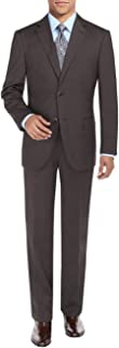 DTI BB Signature Two Button Men's Suit Sharkskin Jacket Modern Fit Blazer Pants