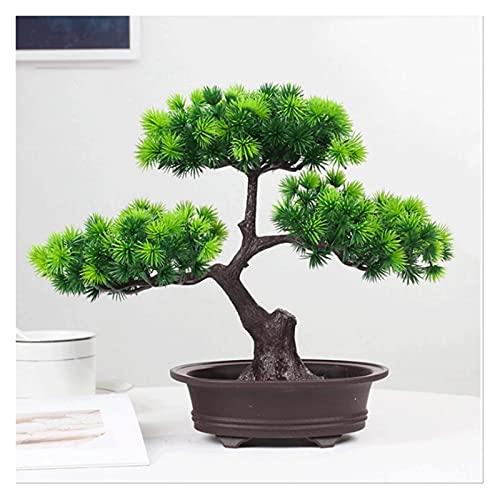 Bonsai Decorative Decoración del cuarto de la habitación de las plantas del árbol de los bonsáis artificiales para el dormitorio y la decoración del baño de la casa de la casa, altura de 9.8 pulgadas