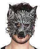 Boland - Demi-masque de loup-garou pour adultes, gris, taille unique, 97516