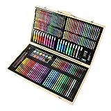 180 Piezas Color Deluxe Wood Art Drawing Set Para NiñOs En Estuche De Madera Studio Art And Craft Supplies Juego De Dibujo Y Pintura Para NiñOs De 5 A 12 AñOs, Con Pinturas Al óLeo