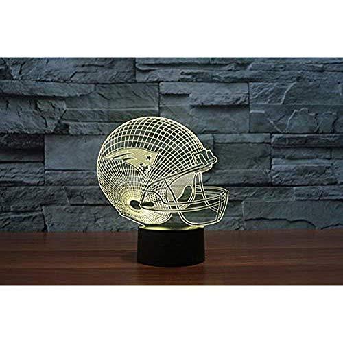 3D New England Patriots Logo Nfl Team Collection Football Helm Visuelle Lampe Wohnkultur Led Tischlampe Nachtlicht