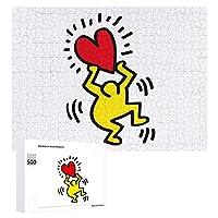 木製パズル パズル 1000ピース 500ピース パズル ジグソー ピクチュアパズル 絵のパズル キース へ リング ためのジグソー 木のおもちゃ ファッション掛け絵 知育玩具 ウォールアート 壁掛け壁画 大人の子供パズルパズルゲーム壁掛けアート収納ケース付き52cm*38cm/75cm*50cm