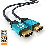 GUARDIEN Câble HDMI 4K 7.5m - Certifié Premium - Ultra HD 2160p, Full HD 1080p, 3D,...