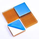 Easycargo 40mm Heatsink Kit 40x40x11mm + 3M 8810 Thermal Conductive Adhesive Tape, Cooler Heat Sink for Cooling 3D Printers, TEC1-12706 Thermoelectric Peltier Cooler