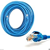 CableVantage 50ft Cat5 Patch Cord Cable 500mhz Ethernet Internet Network LAN RJ45 UTP for PC PS4 Xbox Modem Router Blue