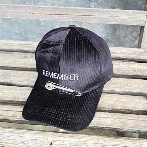 Sombrero para mujer, alfiler, letras de diamantes de imitación, gorra de béisbol, pana, cara redonda, adelgazante, gorra con pico, otoño e invierno, cálido, sombrero para el sol, gorra deportiva
