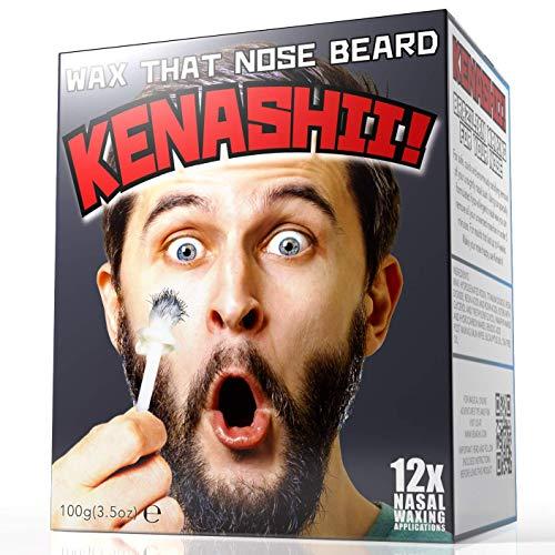 Kit de cera de nariz, 100 g de cera, 24 aplicadores. El kit de depilación original y mejor para la nariz de Kenashii.12 aplicaciones, 12 toallitas de bálsamo para encerado, 12 protectores para bigotes