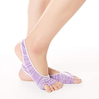Pure Cotton Digging Hole Anti-Slip Leak Apply to Female 3 Pairs/Package Yoga Socks,Fully Breathable