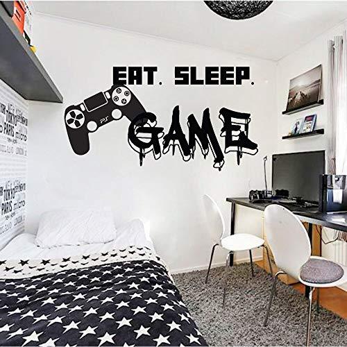 Personalidad pegatinas de pared juego arte tatuajes de pared decoración familiar pegatinas carteles habitación de los niños comiendo y durmiendo