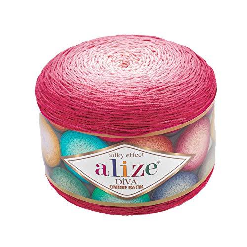 Alize Diva Ombre Batik effetto seta 100% microfibra acrilico filato uncinetto arte pizzo mestiere 1 skn 250gr 250yds mano maglia filato (7367)