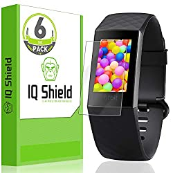 professional IQ Shield Screen Protector (6 pieces) compatible with Fitbit Charge 3 (Fitbit Charge 4) Bubble Prevention …