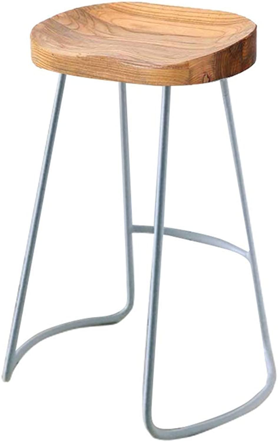 Bar Stool Modern Minimalist Dining Chair Cafe High Stool Leisure Stool Metal Legs Design Sitting HENGXIAO (color   Silver Leg, Size   75cm)