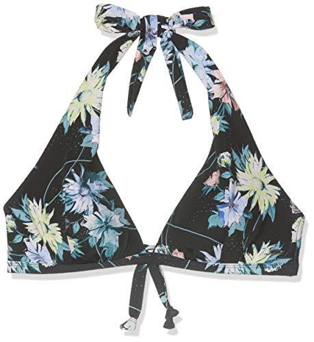 O'Neill Damen PW Sao Mix Bikini Top, Schwarz All Over Print mit Grün, 40C