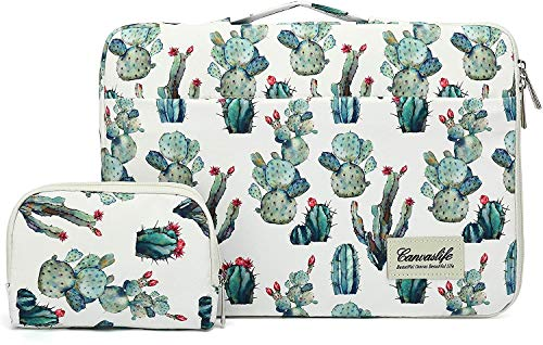 Canvaslife Cacti 360° Protective Waterproof Laptop Case Bag Sleeve with Handle (14 inch)