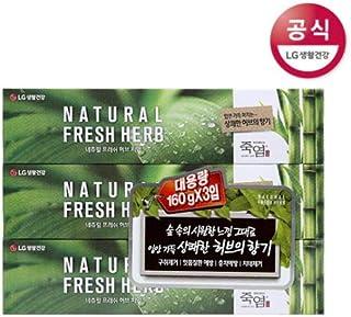 [LG HnB] Bamboo Salt Natural Fresh Herbal Toothpaste/竹塩ナチュラルフレッシュハーブ歯磨き粉 160gx3個(海外直送品)