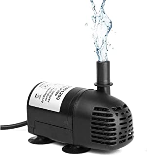 12V-24V DC Brushless Submersible Water Pump 196 GPH for Solar Fountain Hydroponics and Aquaponics (1 Pack)