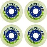 HYPER Freestyle Ruedas Concrete + G Patines en línea Ruedas 84a componente de 4Unidades Brilla en la Oscuridad, 80mm, 72804