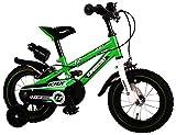 Kawasaki Bicicleta Infantil Niño Chico 12 Pulgadas Frenos al Manillar Ruedas Extraibles 85% Montada Verde