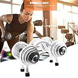 Explea 100 Kg Compact Hantel Rack, Hantel Stahl Lagerregal Freies Gewicht Ständer Für Home Gym,...
