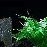 Decoración del Tanque de Peces MMGZ Árbol Artificial Planta de la Hierba Figurines Miniaturas Peces de Acuario Tanque Paisaje, Tamaño: 25,0 x 18.0cm