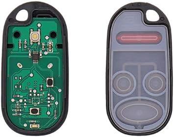 DRIVESTAR Keyless Entry Remote Car Key Fob Replacement fits Honda Civic EX LX DX 2001 2002 2003 2004 2005 Honda Pilot 2003 2004 2005 2006 2007 Replacement for NHVWB1U521 NHVWB1U523, Set of 2