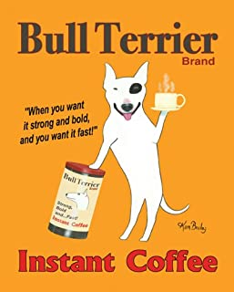 Bull Terrier Brand by Ken Bailey Animals Signs Print Poster 8x10
