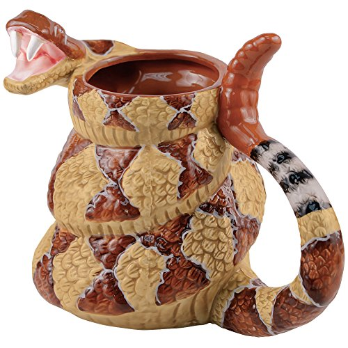 Rattlesnake Coffee Mug Cup - The Late Late Show with Craig Ferguson - 20 Ounce