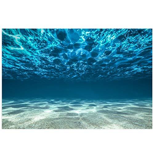 Victories Fish Tank Backdrop-PVC HD Printing Wallpaper,Sea Bottom Sand Scenery Aquarium Poster Background Decor Paper Cling Decals Sticker