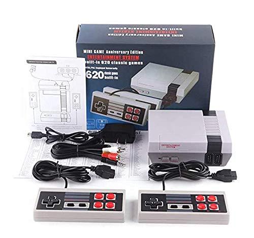 Urhause TV Spielekonsolen für Kinder Erwachsene, NES Mini-Spielekonsole Retro Spielekonsole Eingebaute 620 Klassische Videospiele Spielebox TV Output mit Zwei Joystick Controller