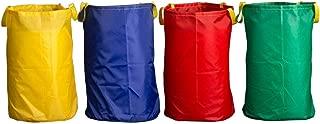 Potato Sack Race Bags 28x40'', Pure Color Jumping Pocket Parent-Child Adult Children Sense Sports Game Equipment Party Accessory(Set of 4)