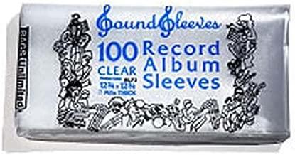 100 BAGS UNLIMITED 3 Mil Plastic 2xLP Album Record Sleeves 12 3/4 x 12 3/4