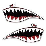 AK Wall Art Warhawk Shark Tiger Vinyl Sticker - Car Window Bumper Laptop - Select Size