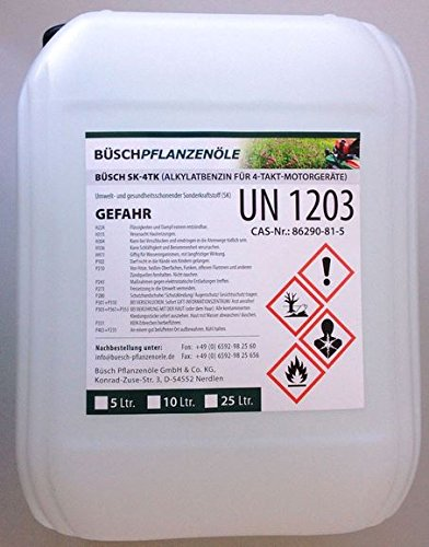 BÜSCH SK-4TK Alkylatbenzin für 4-Takt-Motorgeräte - 4Takt-Spezialbenzin - 5 Liter