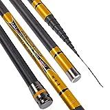 Cañas de pescar telescópicas ultraligeras, de fibra de carbono, para bastón de mano 8/9/10/11/12 m, herramienta de pesca ultra ligera, súper dura,...