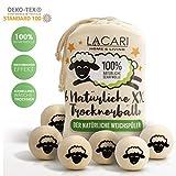 Lacari  [6x] XXL Trocknerbälle für Wäschetrockner - Der natürliche Weichspüler aus 100%...