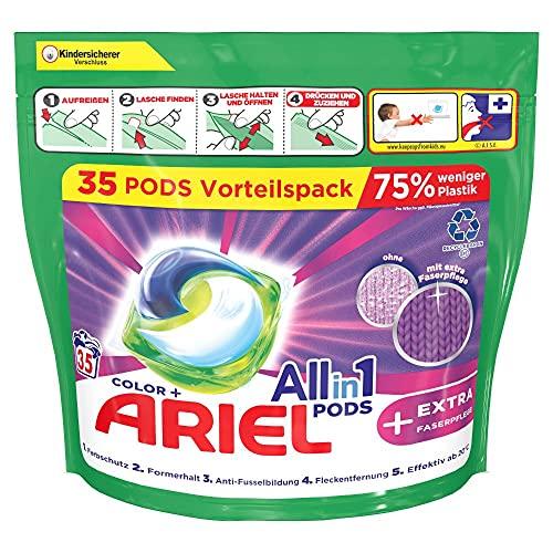 Ariel Waschmittel Pods All-in-1, Color Waschmittel, 70 Waschladungen (2 x 35) Farbschutz + EXTRA Faserpflege