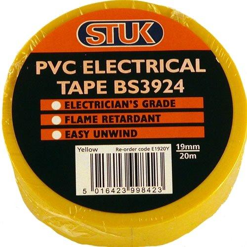 Stuk e1920y bs3924elettrico in PVC 19mm x 20m rotolo di nastro, colore: giallo (Confezione da 10)