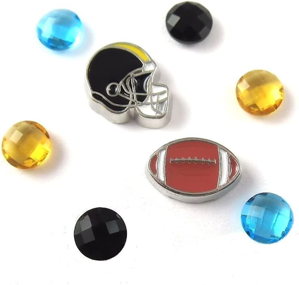 FCL Max 47% OFF Designs - Football Theme Floating for Charm #15 Sales sale Combination