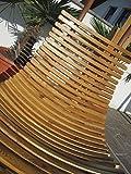 DESIGN Schwebeliege Hängeliege Hängesessel aus Holz Lärche Modell: 'NAVASSA-SEAT' Mit Auflage (ohne Gestell) von AS-S - 4