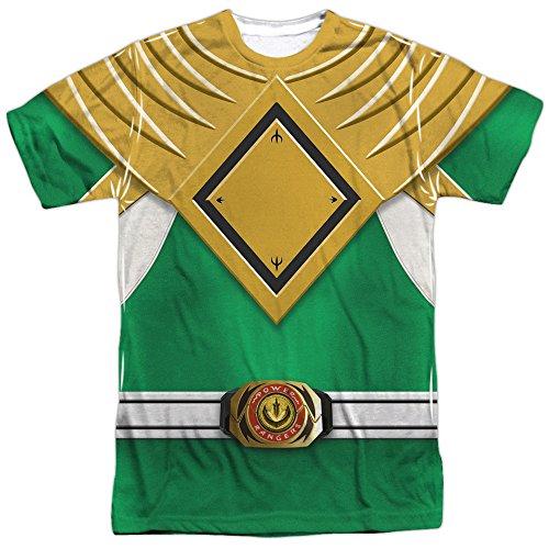 Power Rangers - Green Ranger (Front/Back Print) T-Shirt Size S