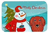 Caroline's Treasures Snowman with Longhair Red Dachshund Mouse Pad Hot Pad or Trivet Multicolor (BB1834MP) [並行輸入品]