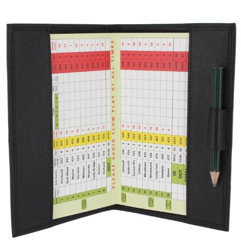 Porta Tarjeta de Puntuación de Golf de Cuero Suave 2315 Negro