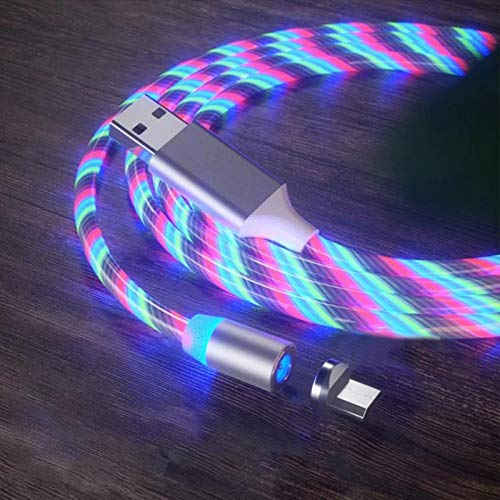 Dastrues Charging Cable Luminous Glowing LED Magnetic 3 in 1 USB Charging...